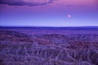Anza Borrego State Park, California, full moon, moonrise, badlands