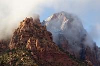 Zion, national park, Zion National Park, Utah, southern utah, sandstone, cliffs, sandstone cliffs, fog, weather