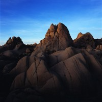 Joshua Tree, national park, granite, shadows, morning