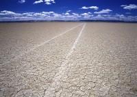 Alvord Desert, Oregon, playa, tire tracks