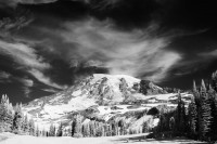 Mount Rainier National Park, Washington, infrared, IR, cirrus clouds