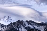 lenticular, cloud, lenticular cloud, Rainier, Mt. Rainier, Governors Ridge