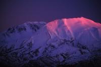 Mount St. Helens National Volcanic Mounument, Washington, sunset, alpenglow