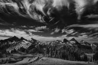 Tatoosh Range, infrared, Mount Rainier National Park, Washington, cirrus clouds