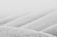 Walla Walla County, eastern Washington, fog, frost, abstract, hills
