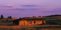 log cabin, sunrise, abandoned, Winifred, eastern Montana