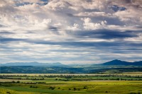 Wolf Creek Valley, Montana, clouds, farmhouses, central Montana