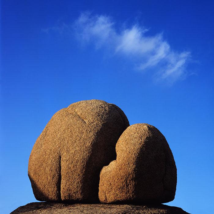 Joshua Tree, granite, boulders, blue, sky, cloud, national park, California