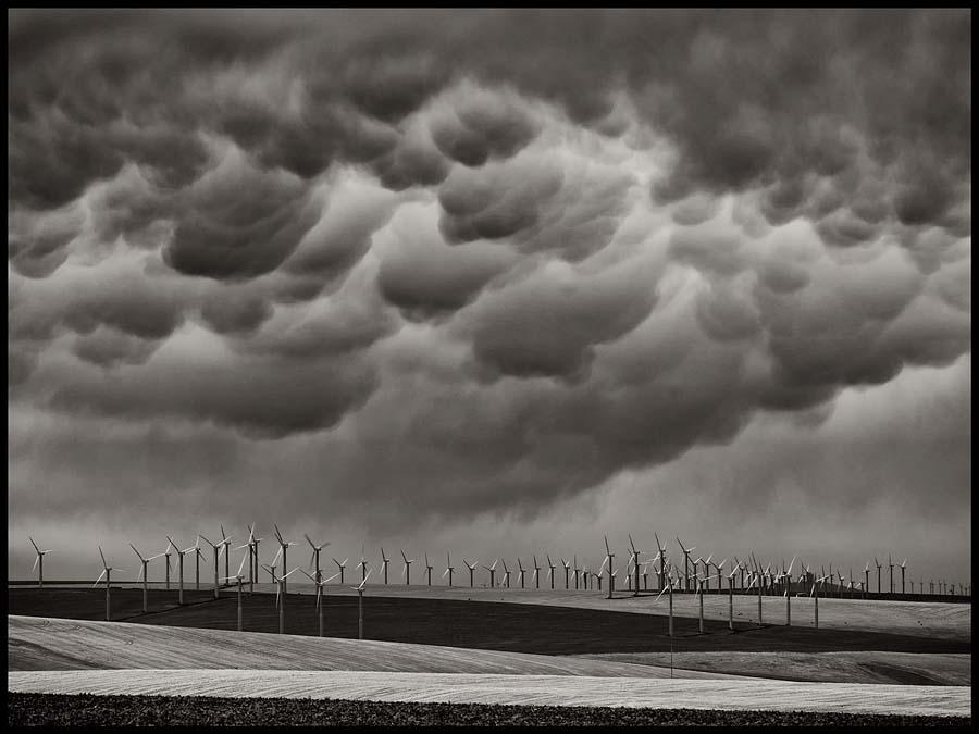 wind turbine, turbine, Walla Walla, storm, clouds, storm clouds, weather, Umatilla County, Oregon