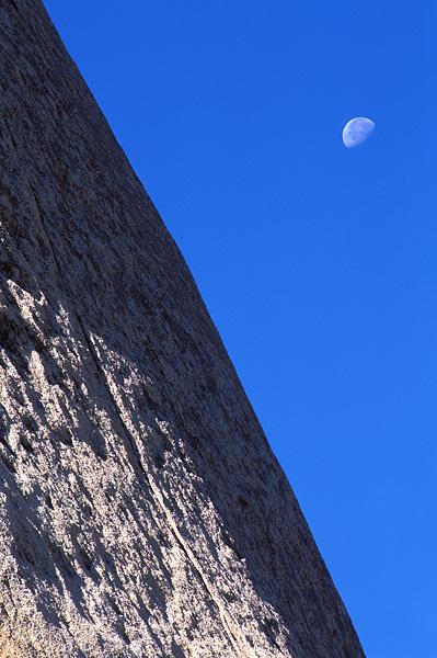 Joshua Tree National Park, California, moon, rock